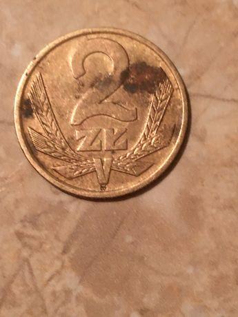Moneta kolekcjonerska 2 zł z 1975 roku bez znaku mennicy
