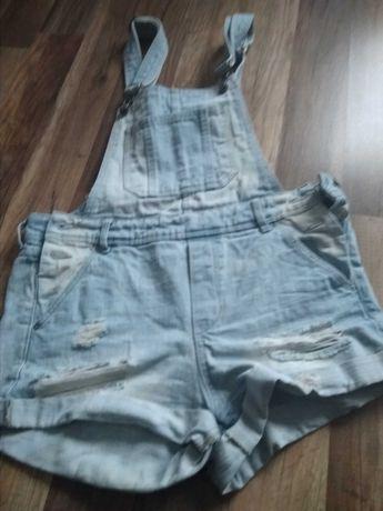 Ogrodniczki krótkie jeans HM, rozmiar 36