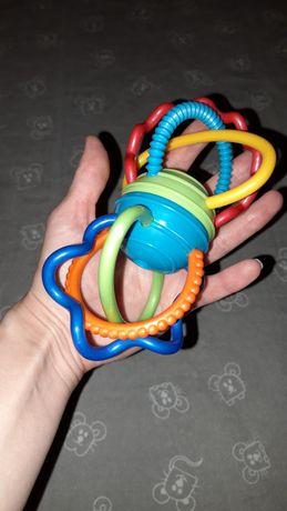 Трещотка грызунок прорезыватель Kids II прорізувач зручний гризулька
