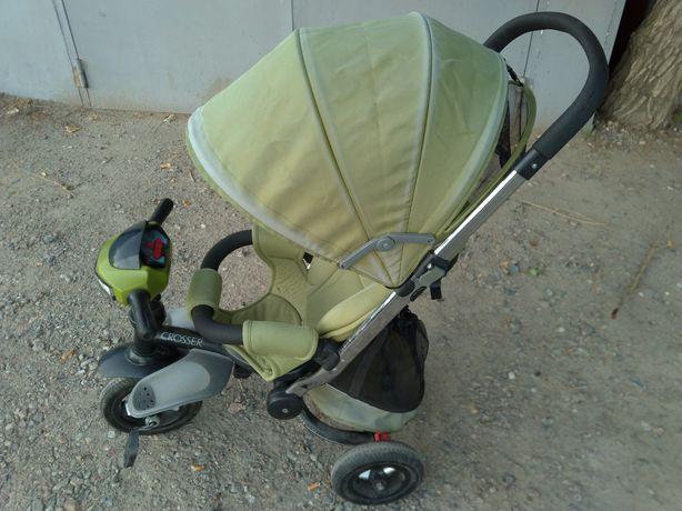 Велосипед коляска детский трехколесный Azimut Crosser T-350