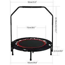 trampolina z uchwytem składana fitness do zabawy