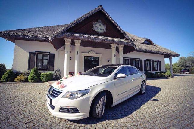 Auto samochód do ślubu biały Passat CC biała limuzyna