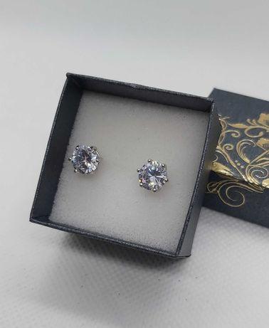 Kolczyki srebrne z cyrkonią pr 925
