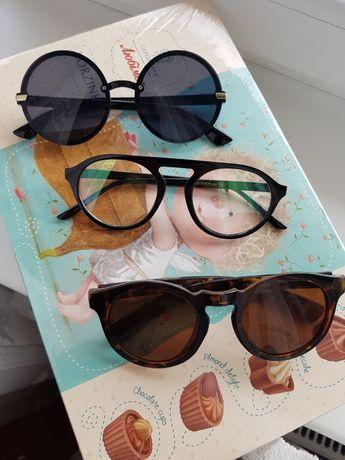 Очки солнцезащитные  без диоприй для имиджа круглые