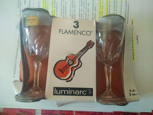 3 cálices da Luminarc novos