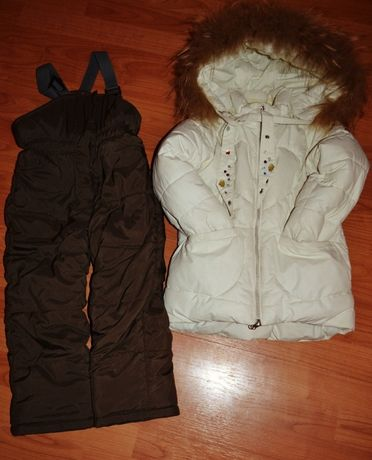 Зимний костюм для девочки (куртка+комбинезон)