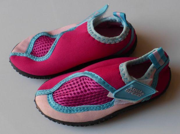Buty do wody na plażę różowe AQUA SPEED dla dziewczynki buciki 22