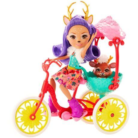 Enchantimals Енчантималс Данесса на велосипеде Bicycle Friends Playset