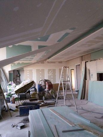 faço trabalhos em pladur tetos falsos divisorias Emassamentos, pintura