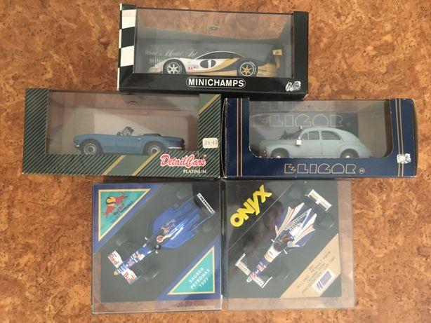5 miniaturas 1/43 Minichamps, Onix, DetailCars etc