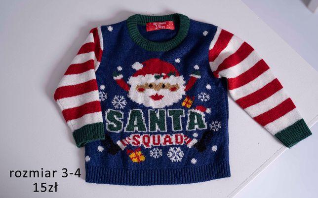 Sweter swiateczny 3-4 lata
