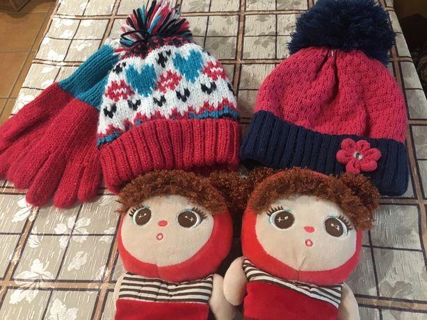 Шапочки рукавички для дівчинки