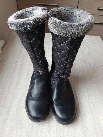 Kozaki Sniegowce botki dziewczęce cieple 34 cool club