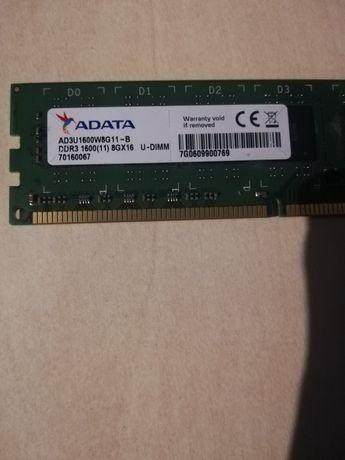8 GB RAM DDR3 1600 MHz.   Adata AD3U1600WG11-B