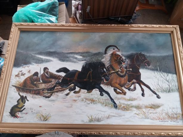 Obrazy kopia Chełmoński, Kossak