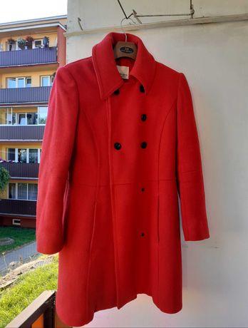Damski śliczny czerwony płaszcz 70%wełna+30%viscose