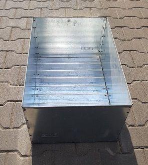 Skrzynka magazynowa pojemnik kuweta metalowa 60cm/40cm/28cm
