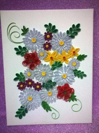 Obraz kwiaty 35 X 45 cm.