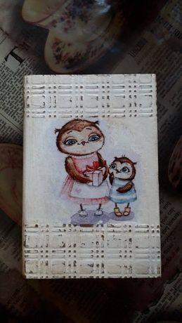 Шкатулка-книжка ручная работа-декупаж