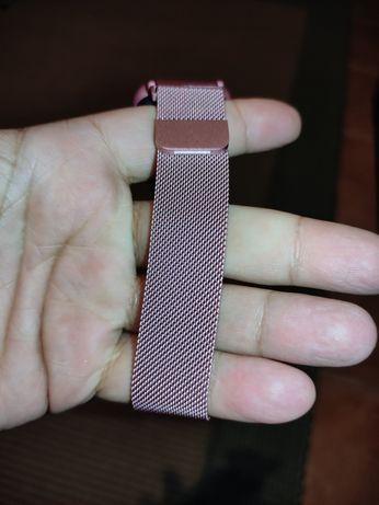 Bracelete de metal milanesa para smartwatch 20mm