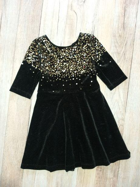 Нарядное, велюровое платье TU 4-5лет