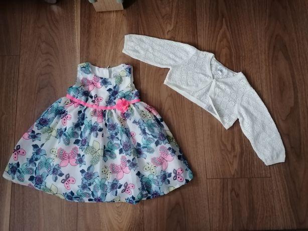 Sukienka cool Club bolerko białe
