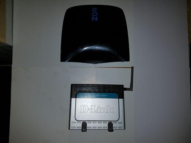 Router da Zon e Router D-Link Wireless ADSL DSL-G604T
