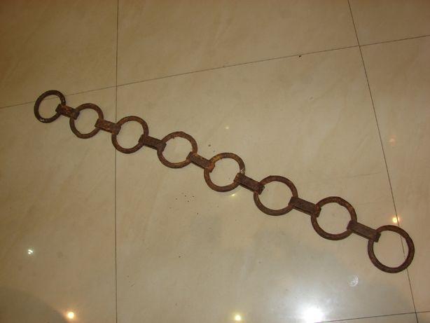Stary kuty łańcuch dł 80cm kowalstwo