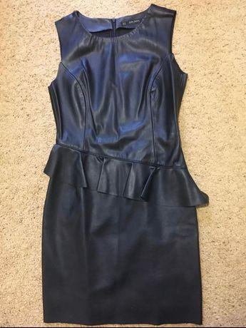 Платье из эко кожи ZARA