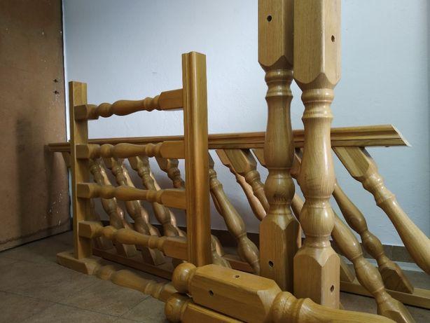 Poręcz dębowa z demontażu schodów
