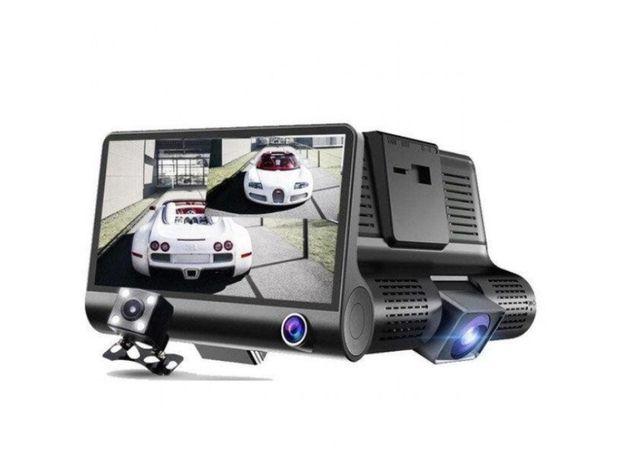 Авто Видео регистратор 3 Камеры Салона\Заднего Вида\Дороги Full HD
