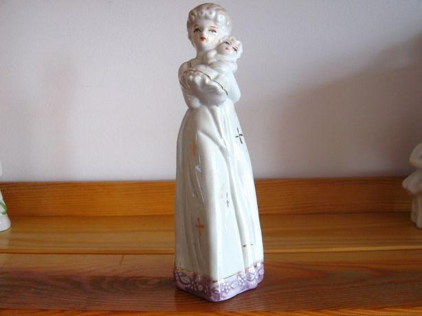 Porcelana Figurka Porcelanowa Kobieta z Dzieckiem
