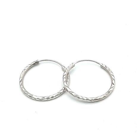 Kolczyki koła srebrne 925 NOWE
