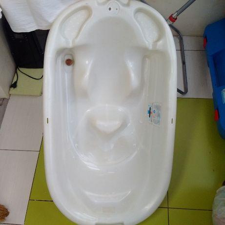 ванночка для купания +ножницы для новорожденных и термометр для воды