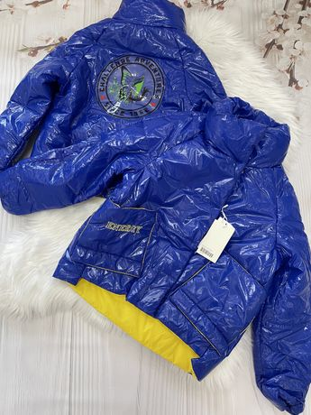Стильная весенняя куртка на девочку оверсайз демисезонная