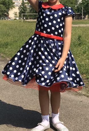 Платье в горох, ретро стиляги