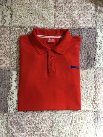 Slazenger - Oryginalne Czerwone Polo Rozmiar - XL Okazja!