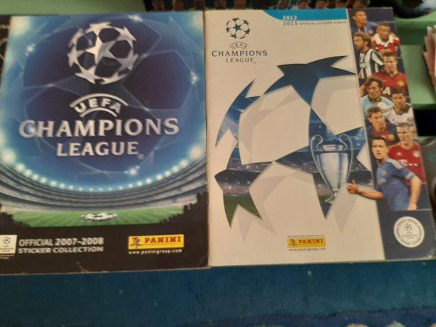 2 Cadernetas cromos /champions league  -  ano 2007/2008 e 2012/2013