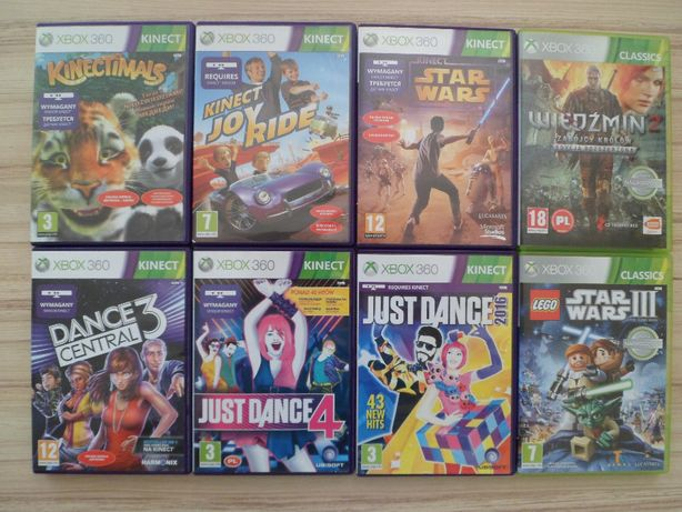 Gry xbox 360-Just Dance 4 2016,Wiedźmin 2,Dance central 3,Lego,Joy,gra