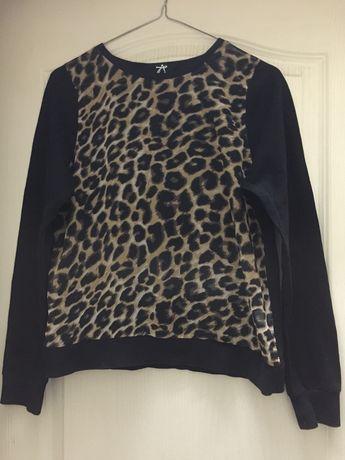 Кофта с леопардовым принтом, 38 размер