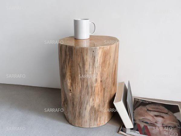 Mesa de apoio madeira maciça
