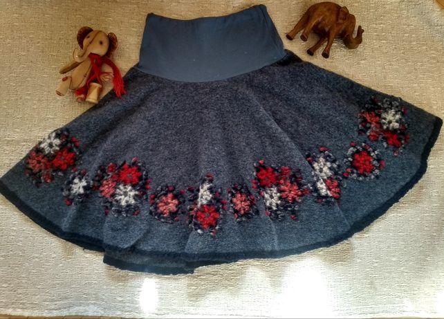 Шикарная теплая юбка шерсть ламы. Эксклюзив.
