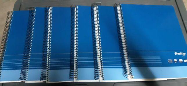 Cadernos escolares pautados de 70 gramas
