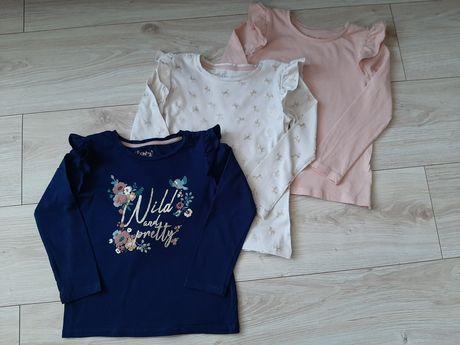zestaw koszulek, bluzka, konik, jednorożec, kwiatki