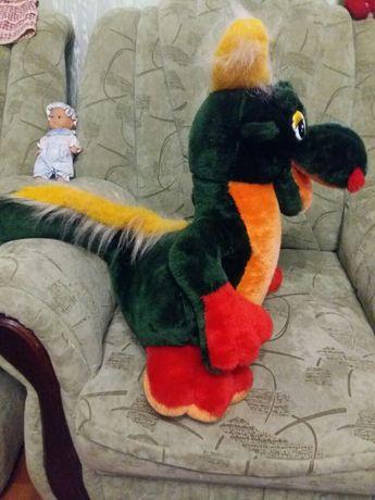 Мягкая яркая игрушка Дракон