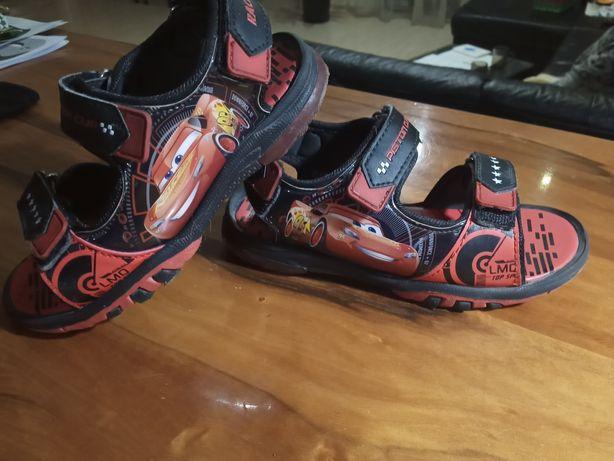 NOWE sandałki rozm 29 19 cm Cars Zygzak Auta sandały chłopca chłopięce