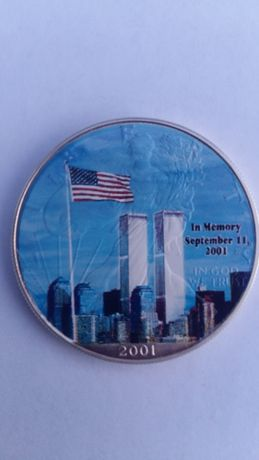 Серебряный доллар США 2001 год