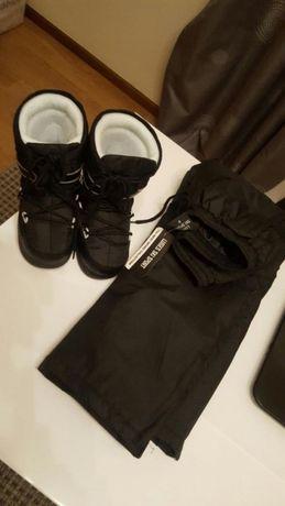 Calças e botas de neve. Criança(novas)