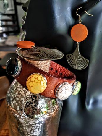 Biżuteria bransoleta+kolczyki