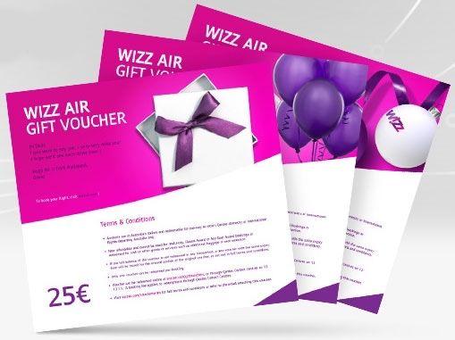 WizzAir Ваучер/Сертифікат 25€ (wizz air gift voucher, сертификат)